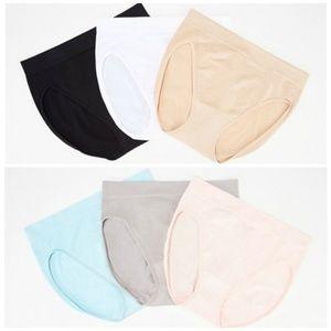 Set of 6 Breezies Seamless Hi-Cut Panties Sm P325